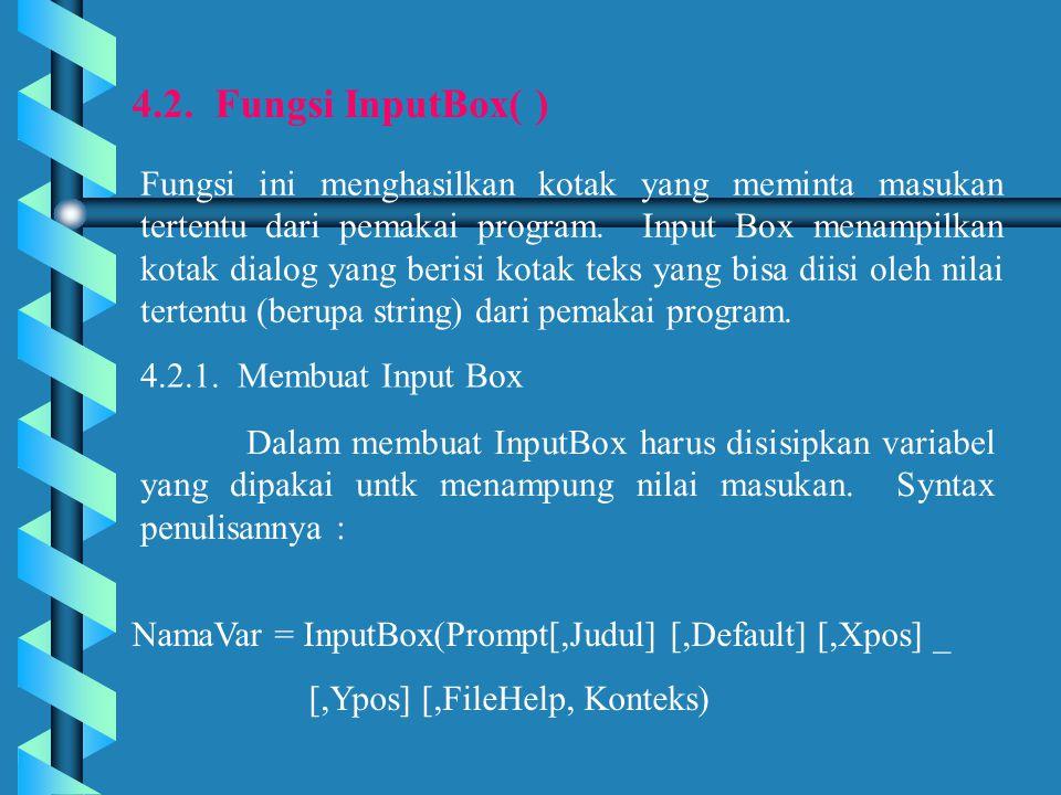 4.2. Fungsi InputBox( )