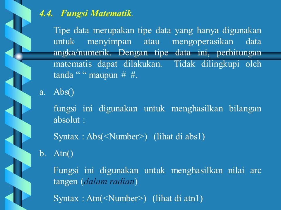 4.4. Fungsi Matematik.