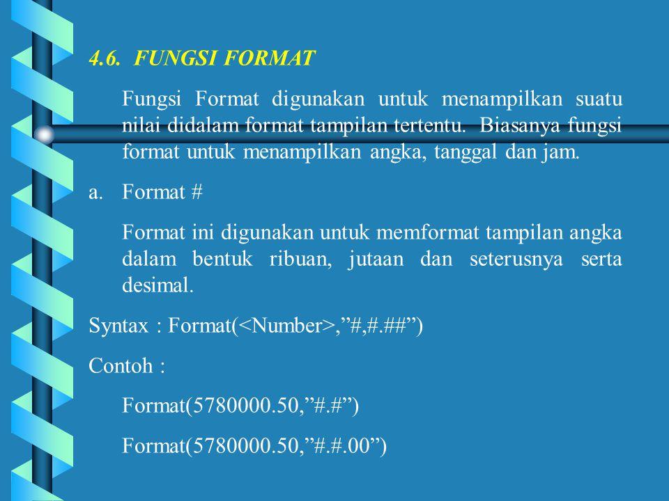 4.6. FUNGSI FORMAT