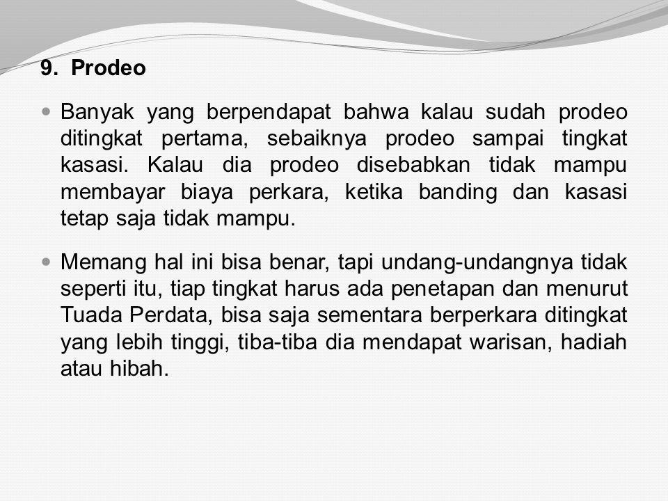 9. Prodeo