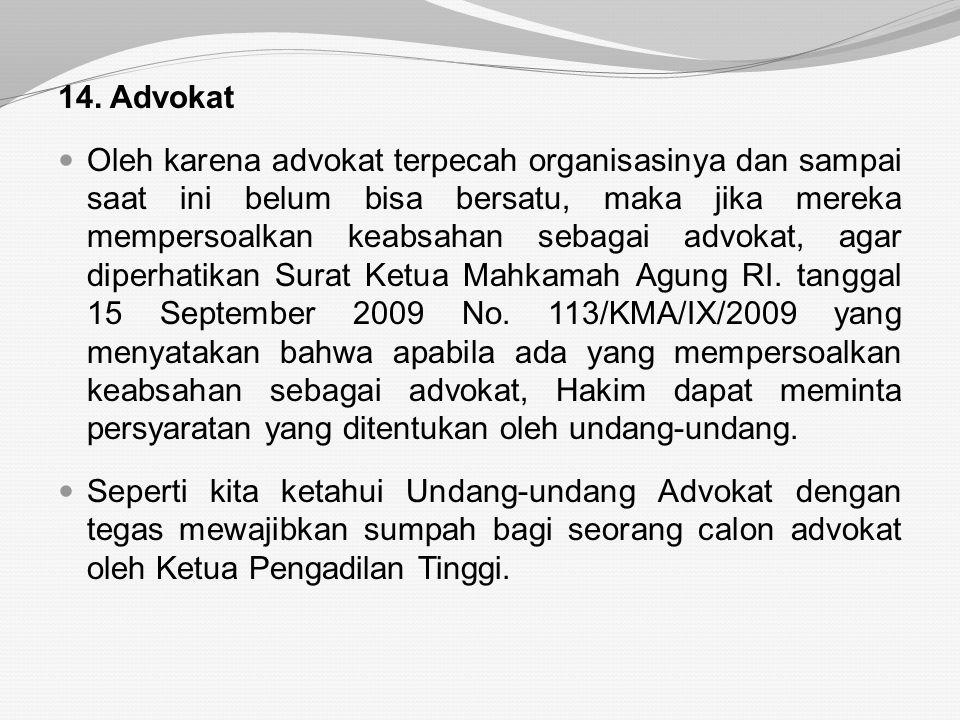 14. Advokat