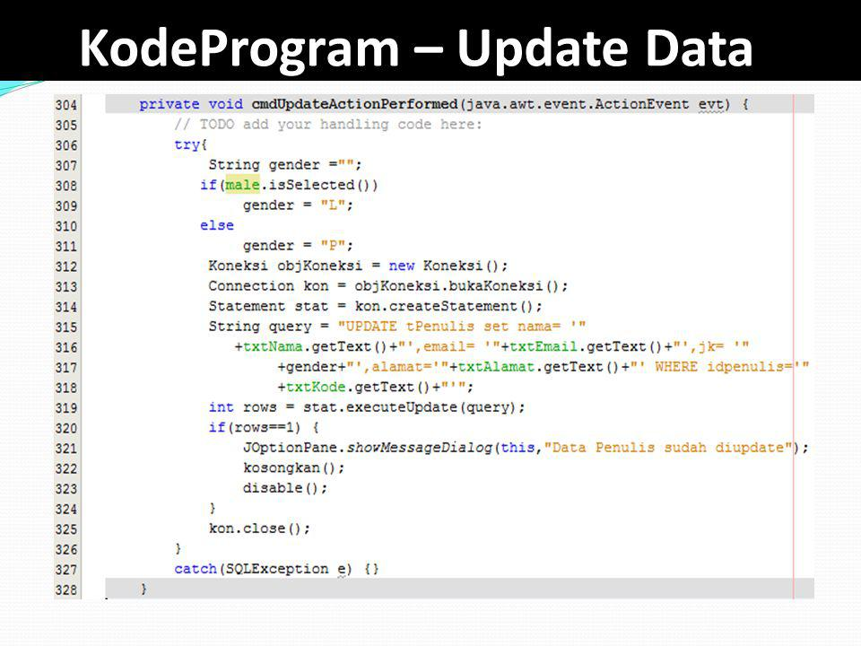 KodeProgram – Update Data
