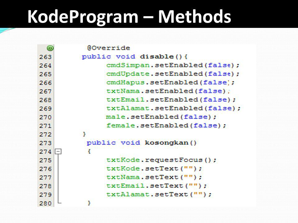 KodeProgram – Methods