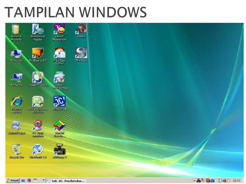 TAMPILAN WINDOWS