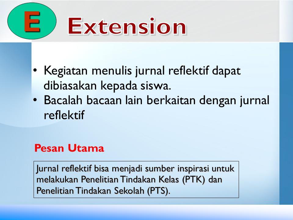 E Extension Kegiatan menulis jurnal reflektif dapat