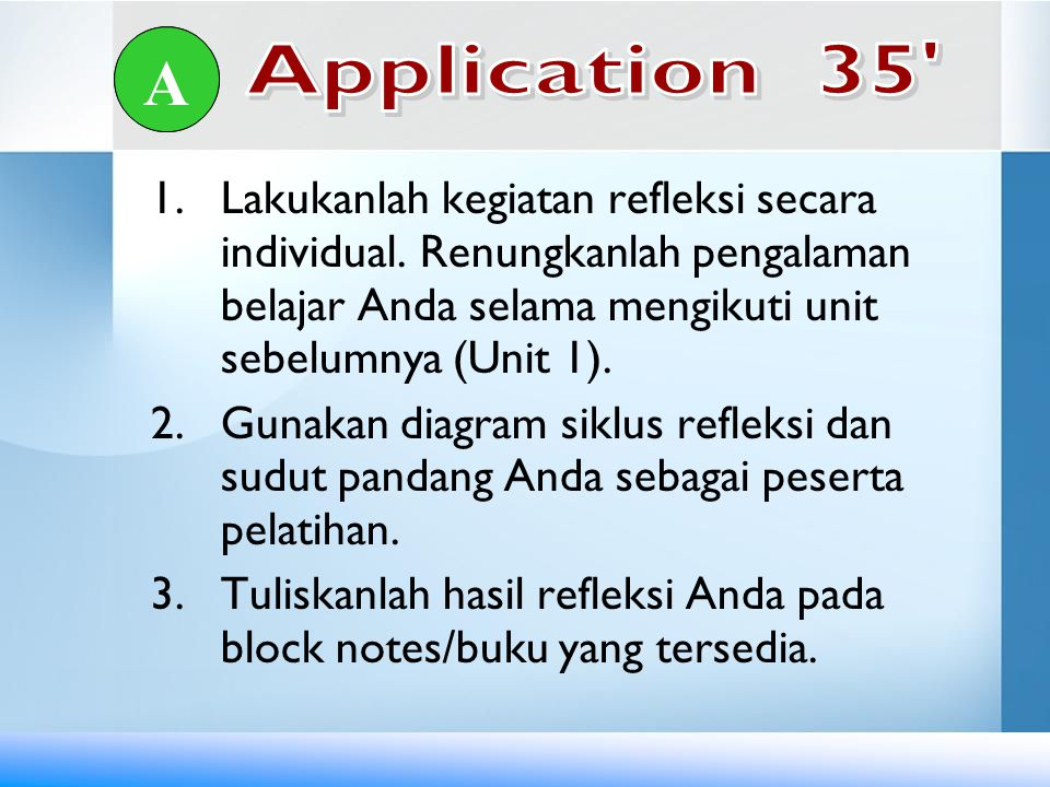 A A. Application 35