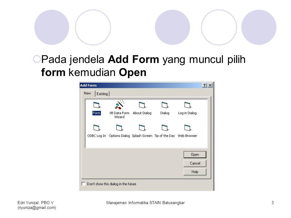 Manajemen Informatika STAIN Batusangkar