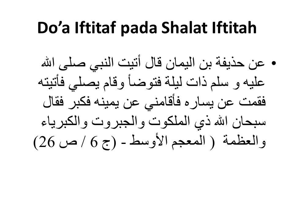 Do'a Iftitaf pada Shalat Iftitah