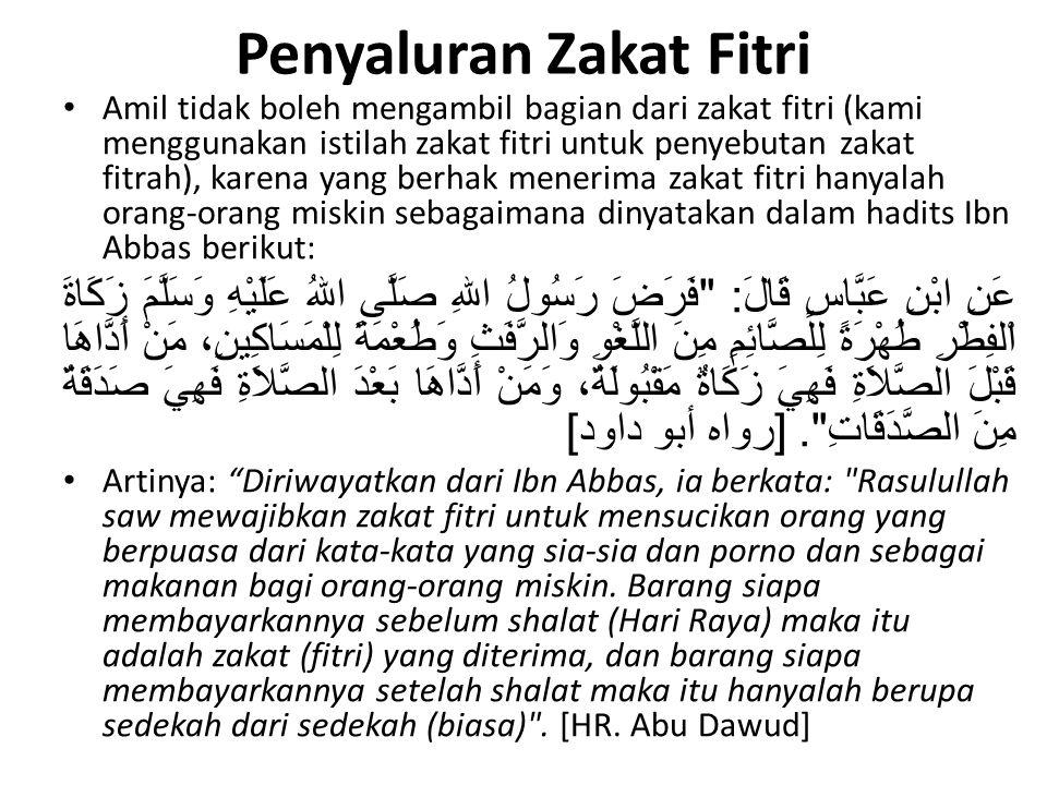 Penyaluran Zakat Fitri