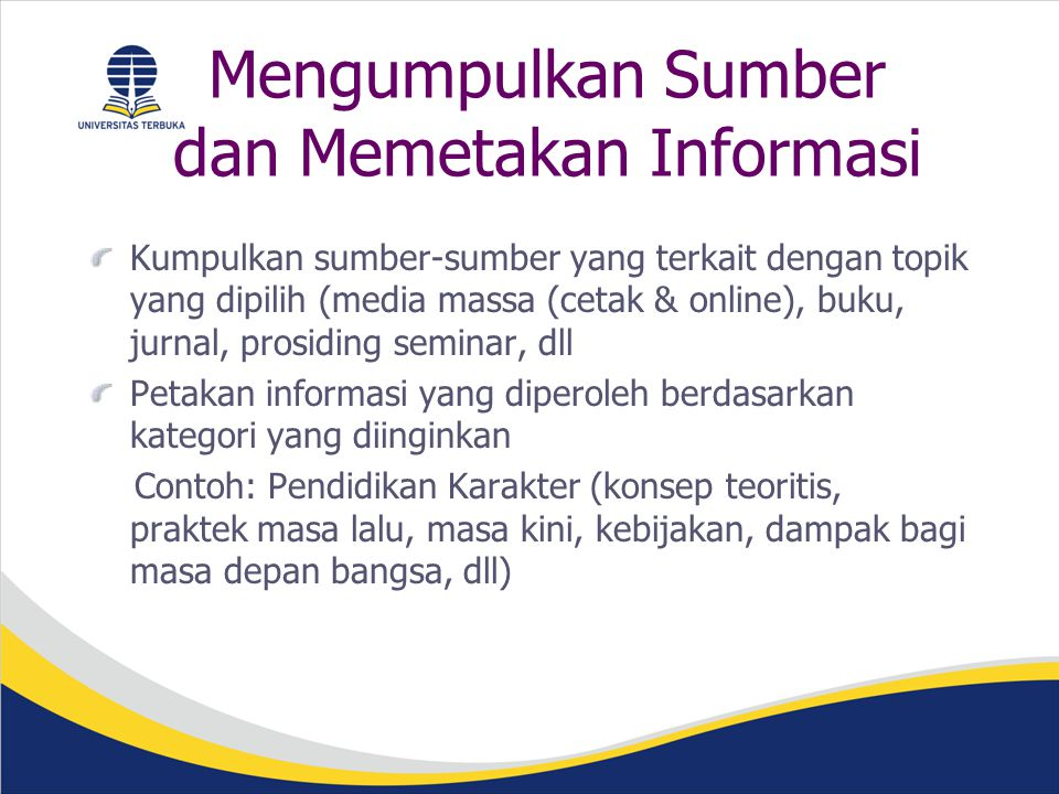 Mengumpulkan Sumber dan Memetakan Informasi