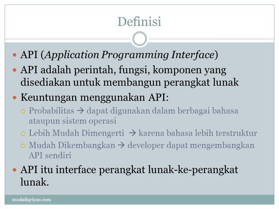 Definisi API (Application Programming Interface)