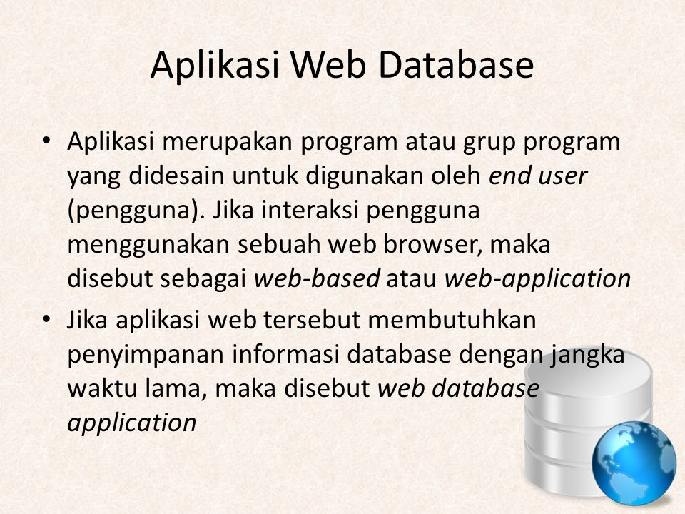 Aplikasi Web Database