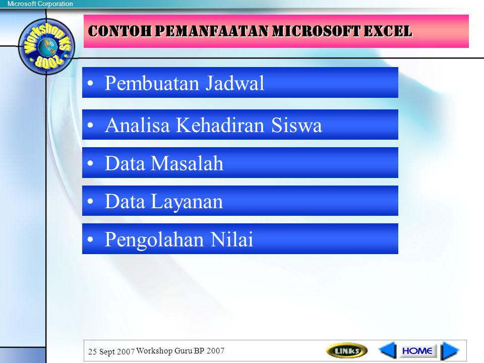CONTOH PEMANFAATAN microsoft EXCEL