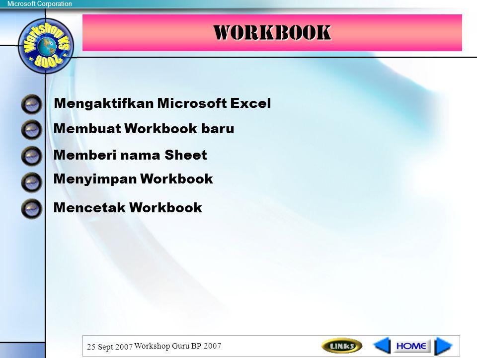 Workbook Mengaktifkan Microsoft Excel Membuat Workbook baru