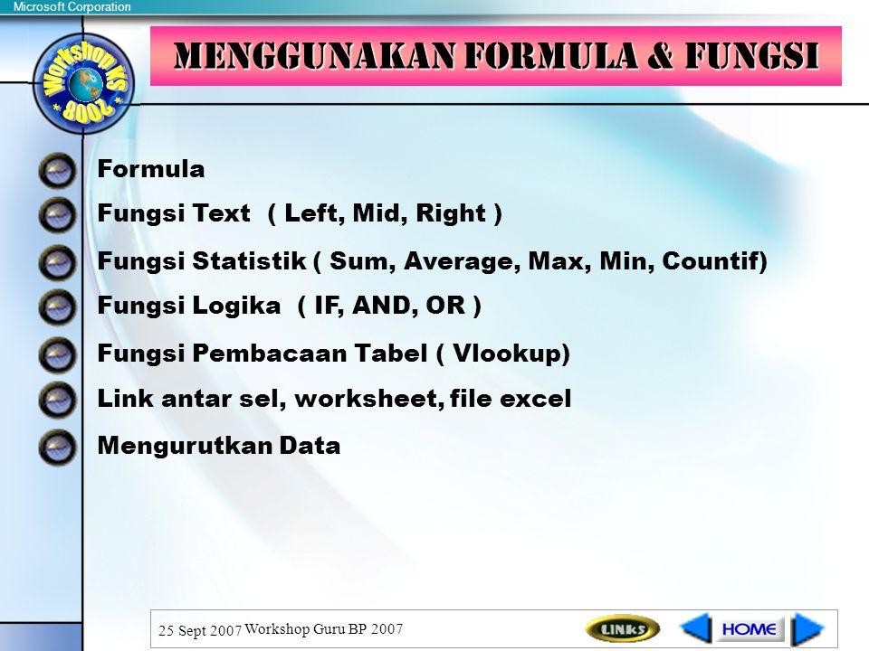 Menggunakan Formula & fungsi
