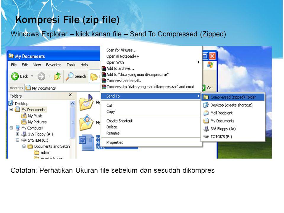 Kompresi File (zip file)