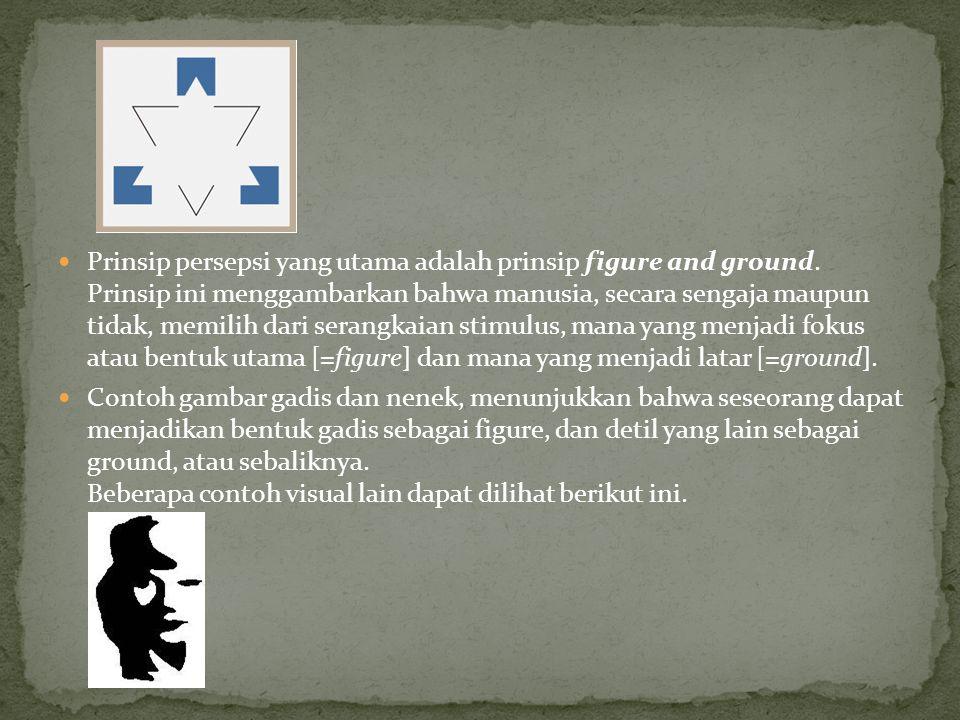 Prinsip persepsi yang utama adalah prinsip figure and ground