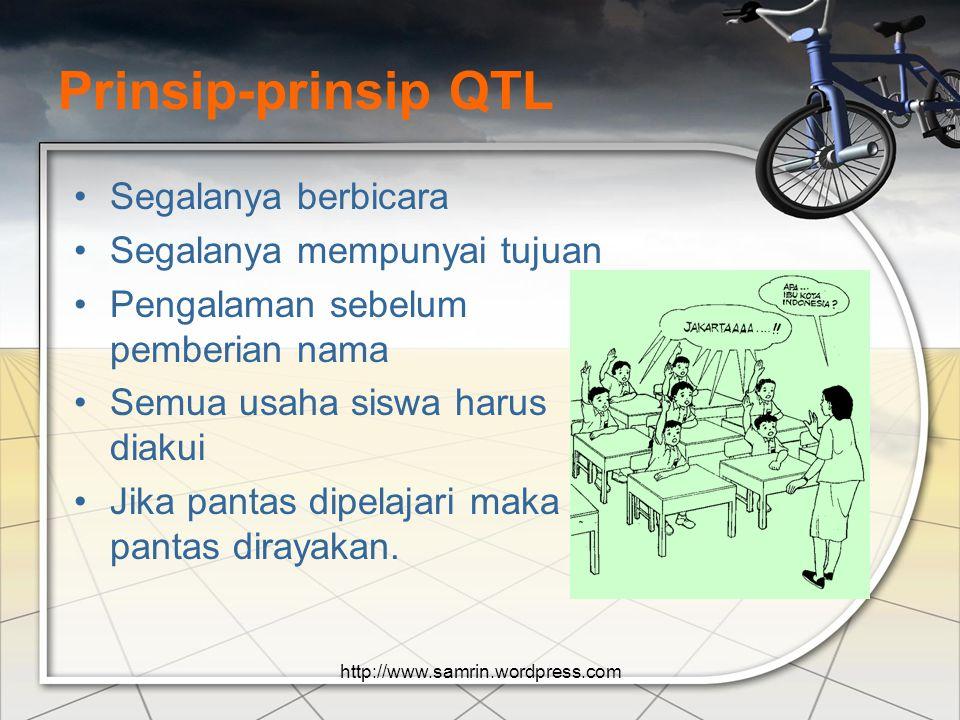 Prinsip-prinsip QTL Segalanya berbicara Segalanya mempunyai tujuan