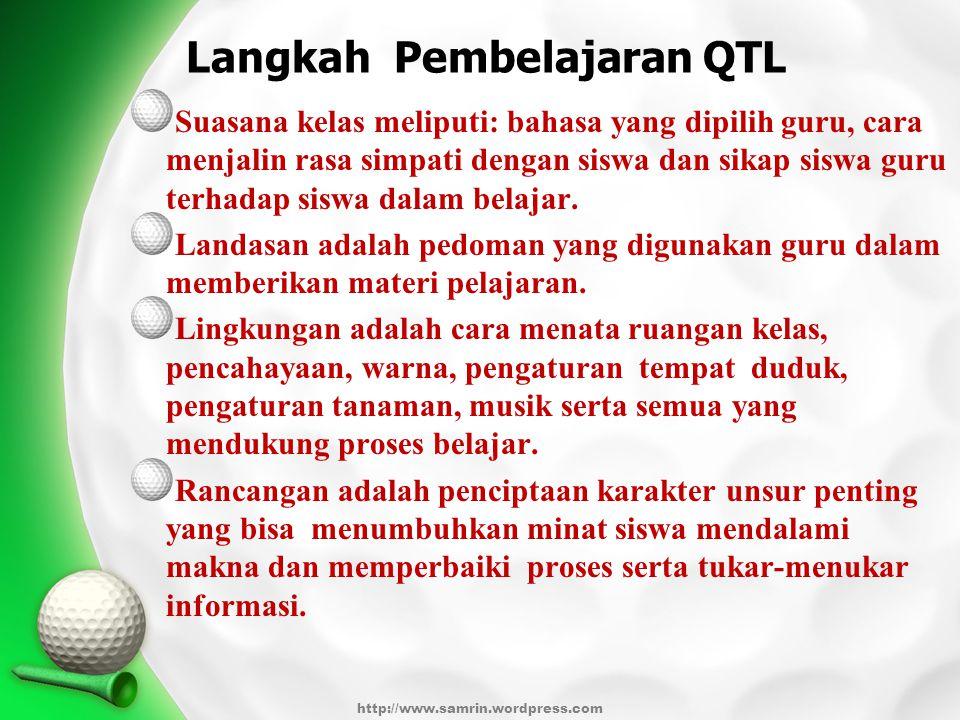 Langkah Pembelajaran QTL