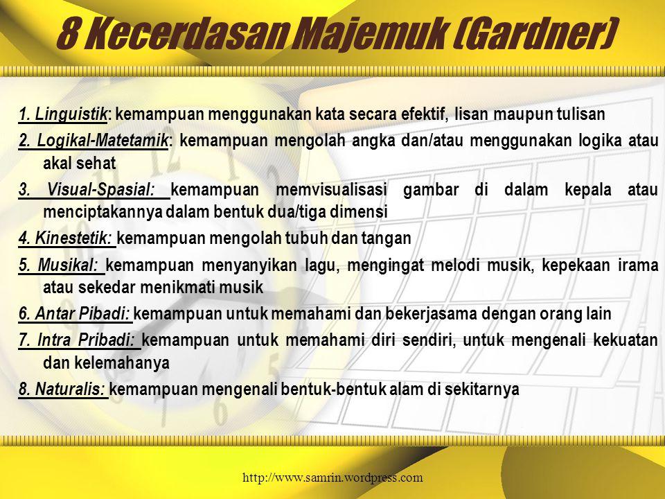 8 Kecerdasan Majemuk (Gardner)