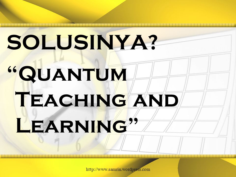 SOLUSINYA Quantum Teaching and Learning