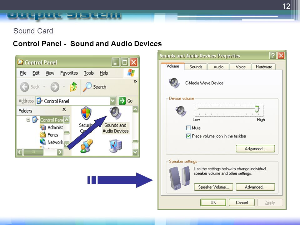 Sound Card Control Panel - Sound and Audio Devices