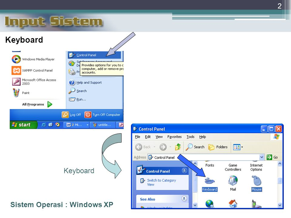 Keyboard Keyboard Sistem Operasi : Windows XP