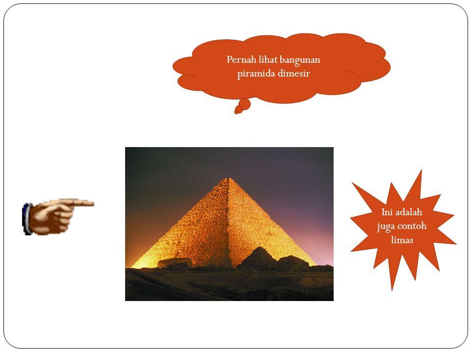 Pernah lihat bangunan piramida dimesir