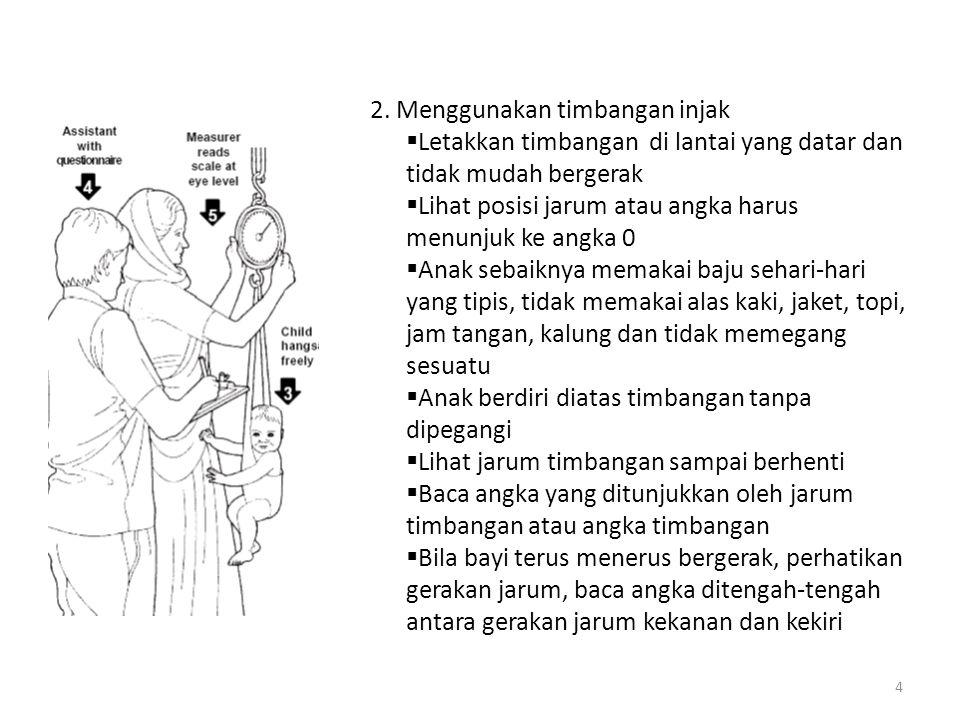 2. Menggunakan timbangan injak
