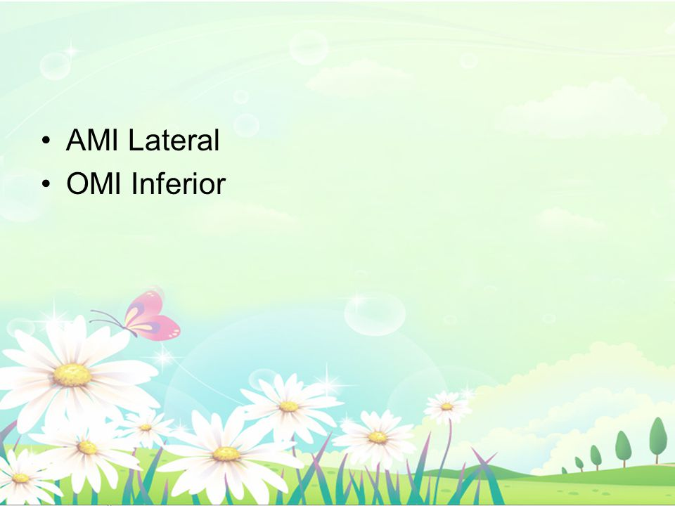 AMI Lateral OMI Inferior