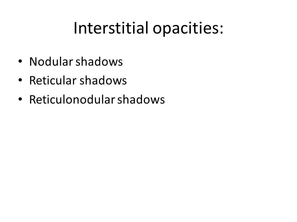 Interstitial opacities:
