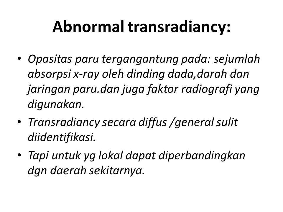 Abnormal transradiancy: