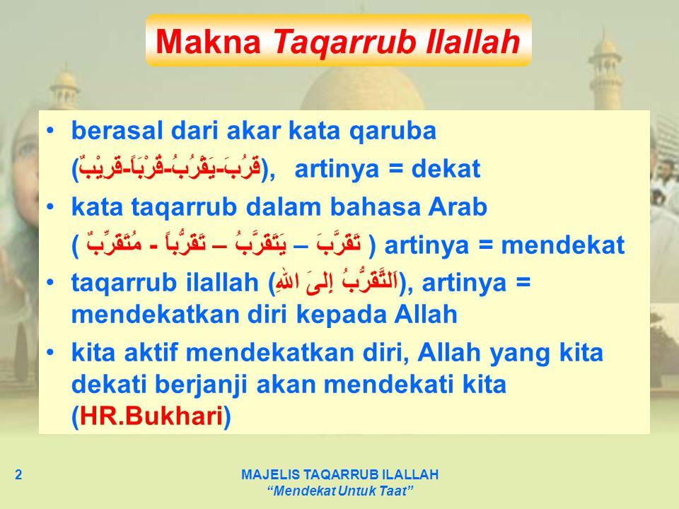 MAJELIS TAQARRUB ILALLAH