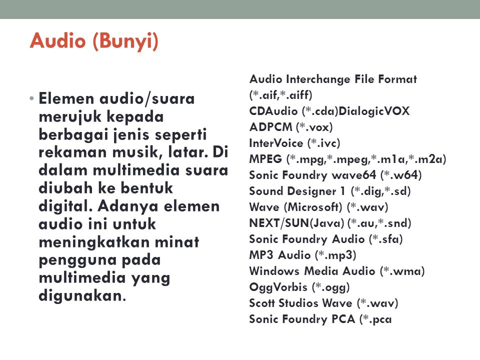 Audio (Bunyi)