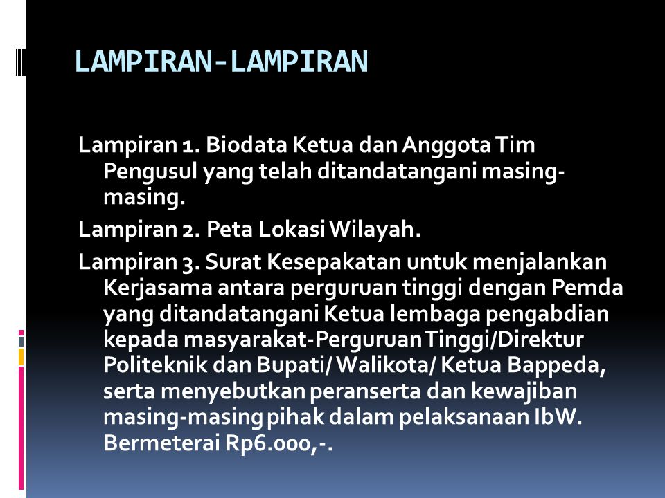 LAMPIRAN-LAMPIRAN Lampiran 1. Biodata Ketua dan Anggota Tim Pengusul yang telah ditandatangani masing- masing.