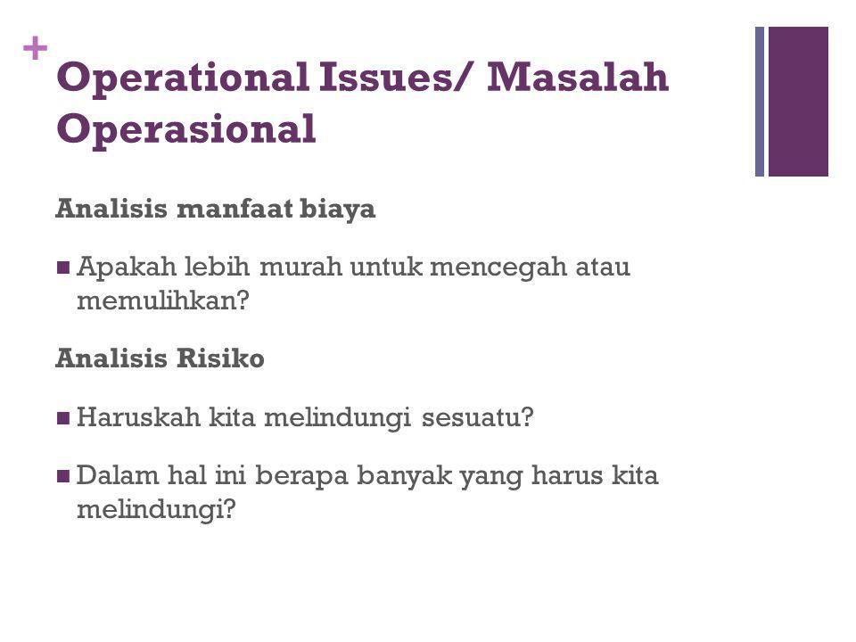 Operational Issues/ Masalah Operasional