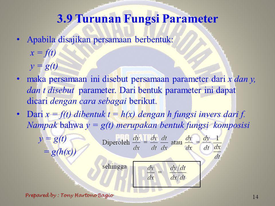 3.9 Turunan Fungsi Parameter