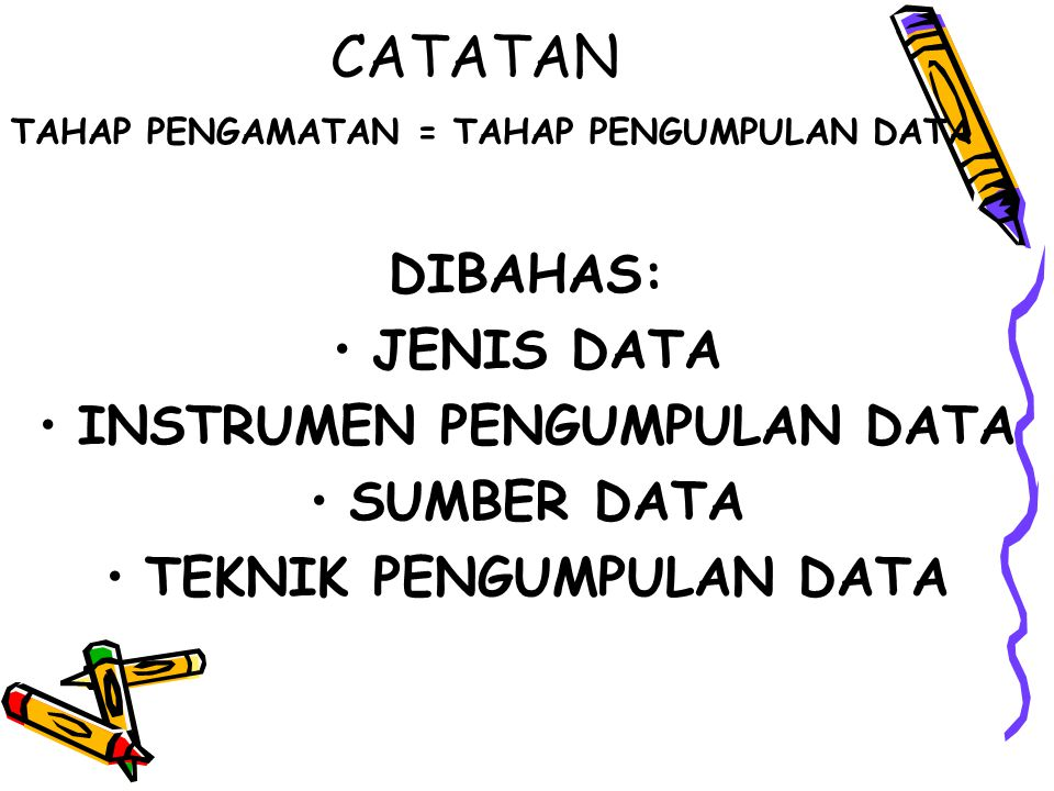 INSTRUMEN PENGUMPULAN DATA TEKNIK PENGUMPULAN DATA