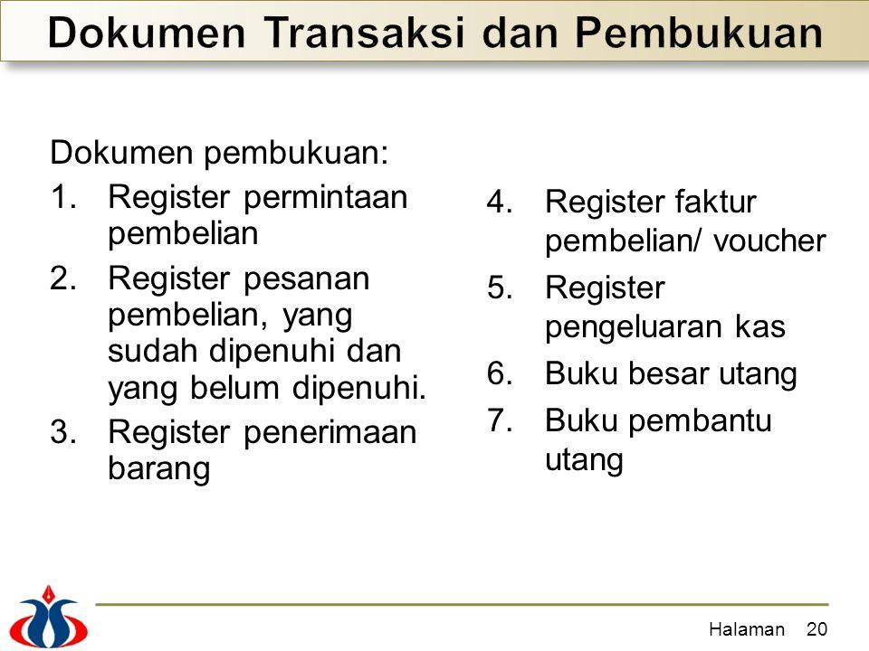 Dokumen Transaksi dan Pembukuan