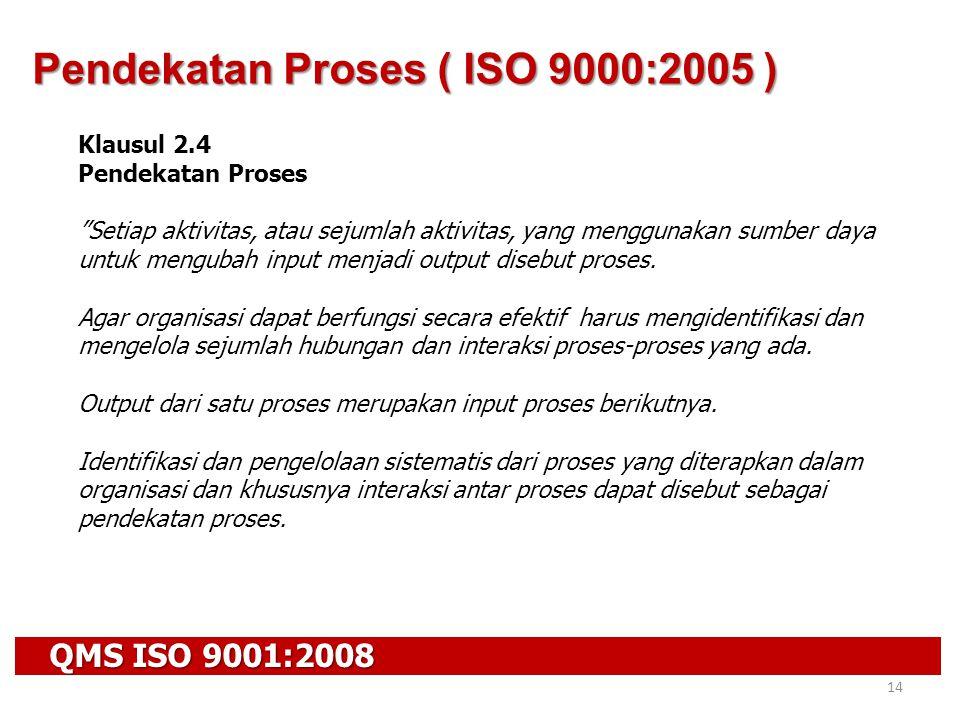 Pendekatan Proses ( ISO 9000:2005 )