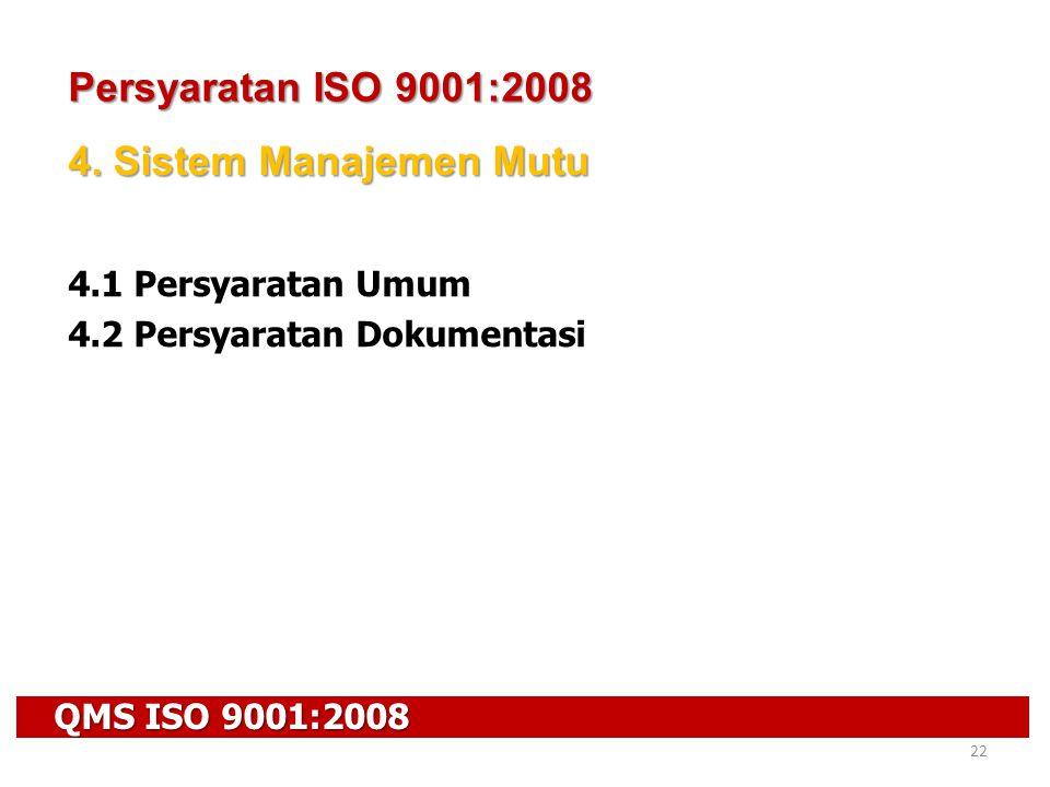 Persyaratan ISO 9001:2008 4. Sistem Manajemen Mutu