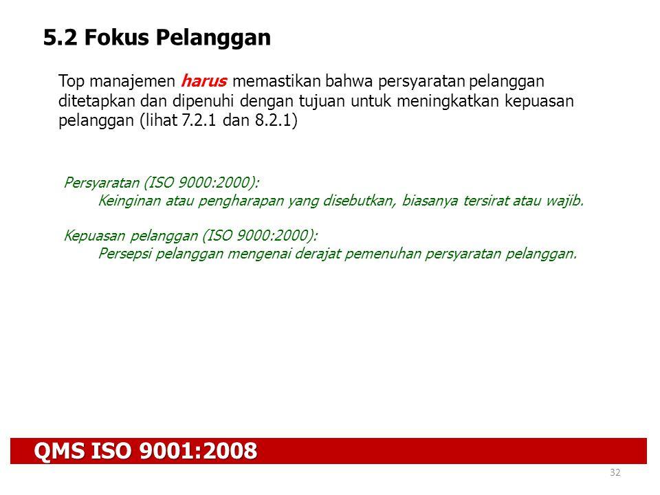 5.2 Fokus Pelanggan QMS ISO 9001:2008