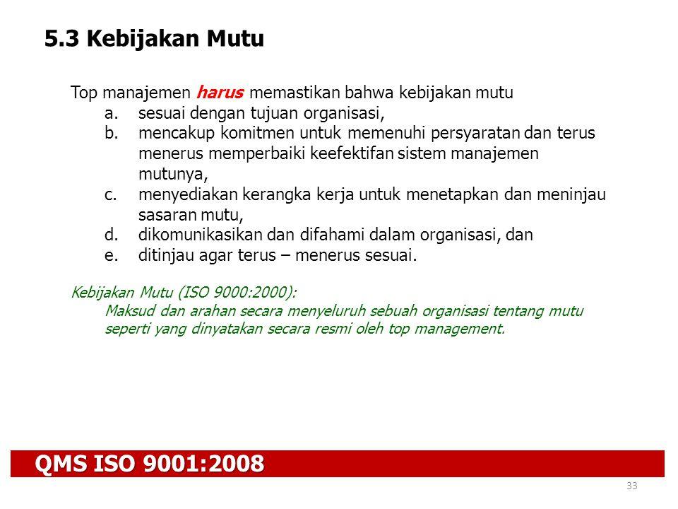 5.3 Kebijakan Mutu QMS ISO 9001:2008