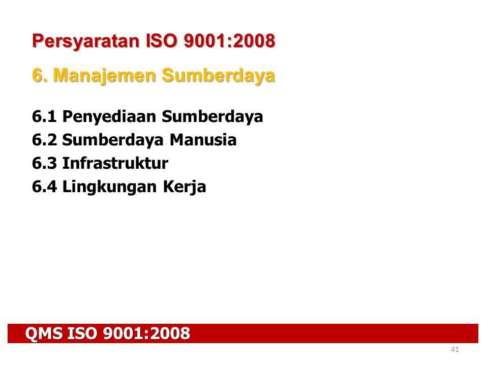 Persyaratan ISO 9001:2008 6. Manajemen Sumberdaya