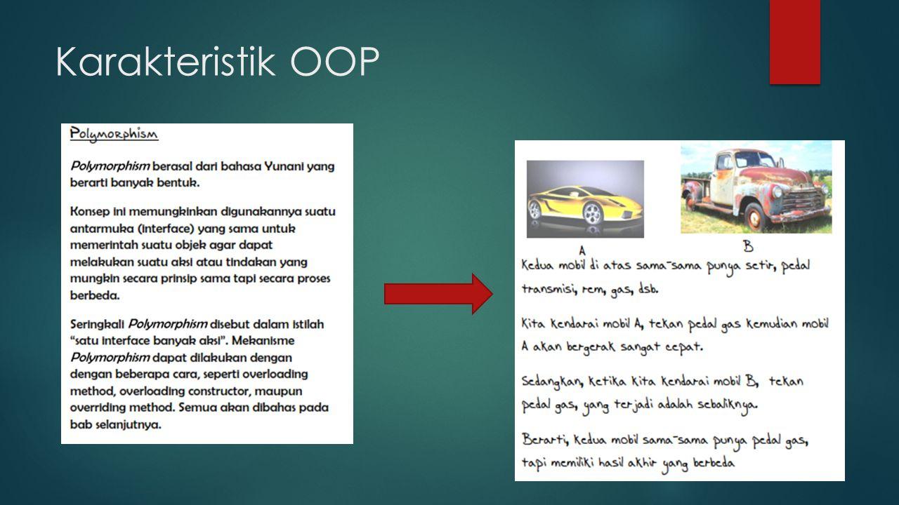 Karakteristik OOP