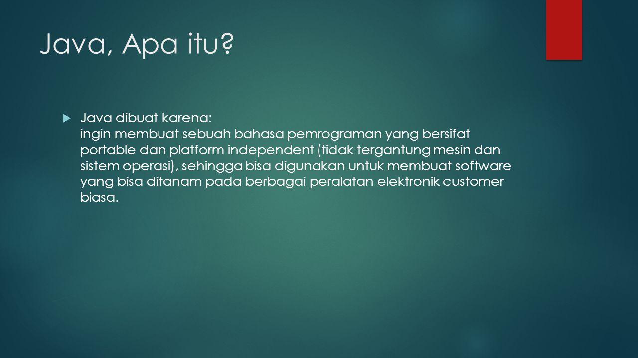 Java, Apa itu