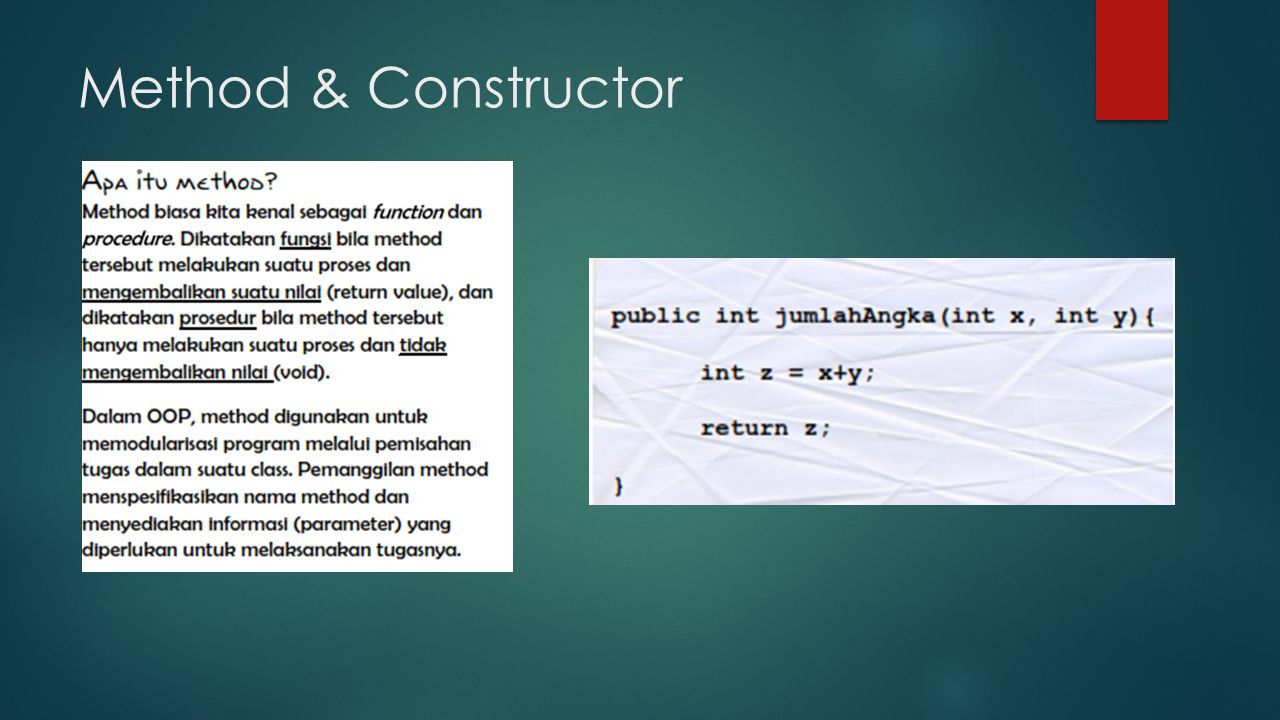 Method & Constructor