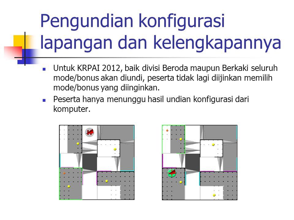 Pengundian konfigurasi lapangan dan kelengkapannya