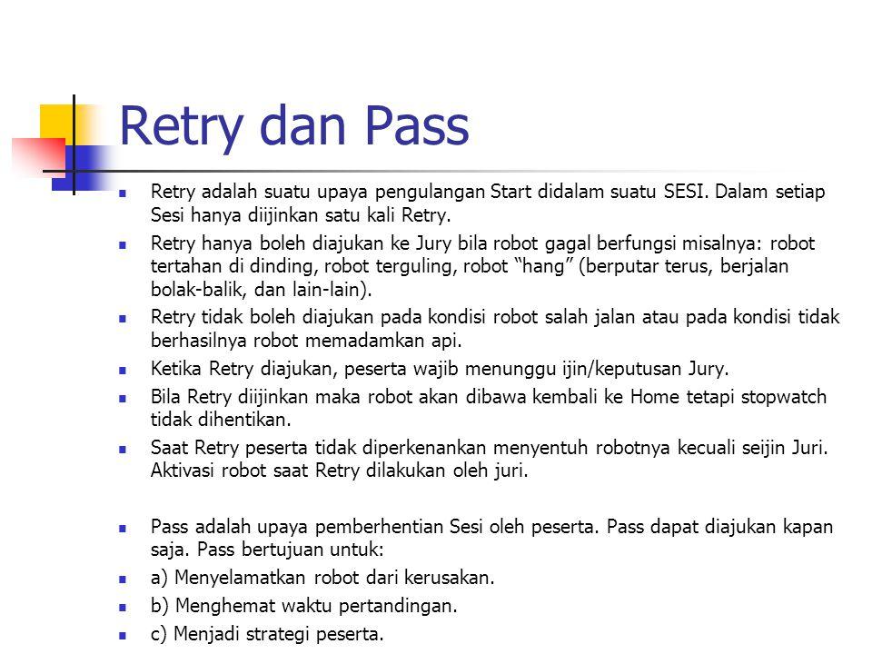 Retry dan Pass Retry adalah suatu upaya pengulangan Start didalam suatu SESI. Dalam setiap Sesi hanya diijinkan satu kali Retry.