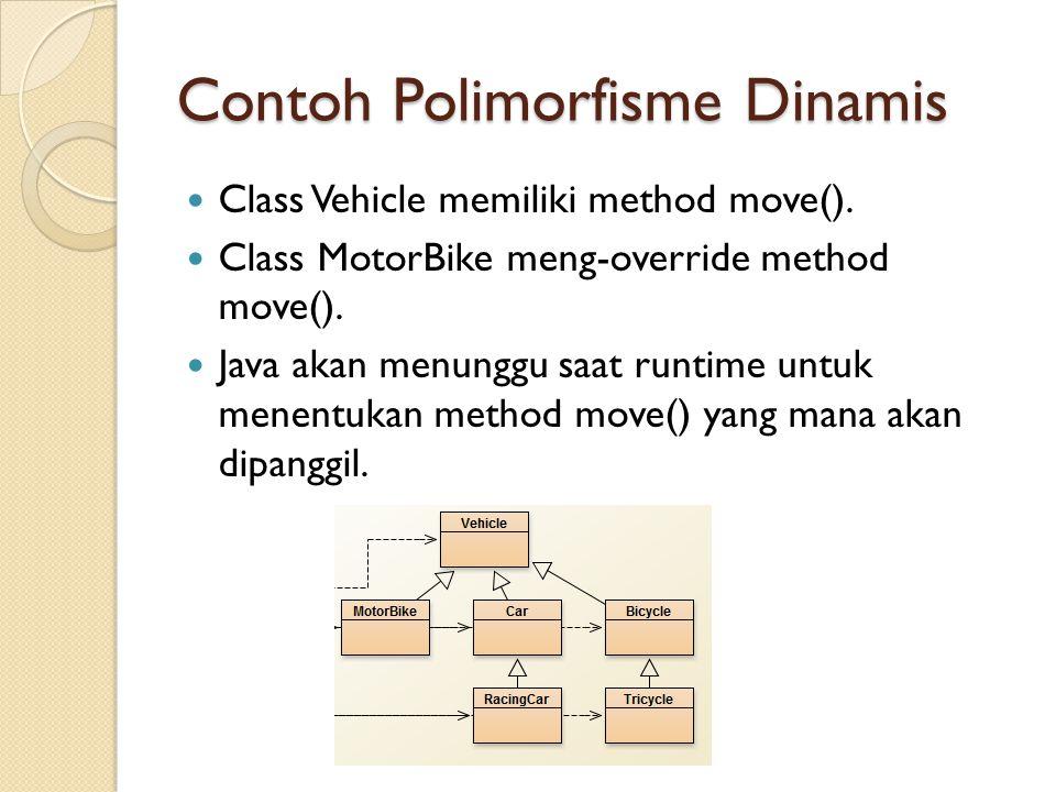 Contoh Polimorfisme Dinamis